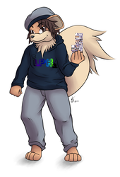 [Gift] Laupok Anthro Growlithe by LackeDragon