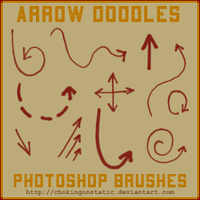 arrow doodle brushes by chokingonstatic