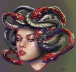 Drawing Gorgon Medusa in SAI by Sangunis