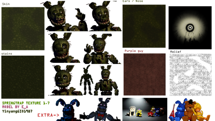 SpringTrap Texture 1.7 Release by YinyangGio1987