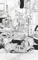 CBLDF Liberty Annual #5 Cover In Progress by TerryDodson