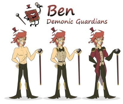 Ben the demonic guardians by icelion87