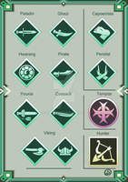 Log Horizon localized class icons by Sliter