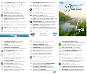 50 Things to do in Goa by skinnyfatso