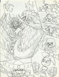 Request: Mega Titan Fight by rogelis