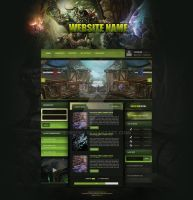 World of Warcraft - Green Web Template (FOR SALE) by InsDev