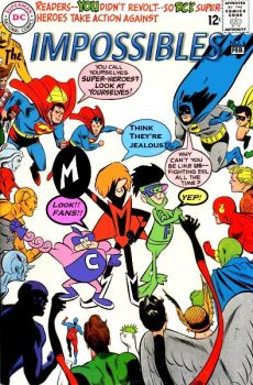 The Impossibles visit the DC Universe by Gwhitmore