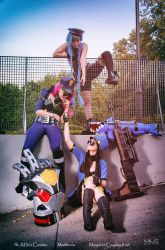 Officer Trio -  Jinx, Vi, Caitlyn by AHu-PL