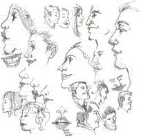 Sketches: noses by lila-me