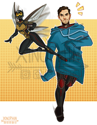 Antman and Wasp by Xinophin