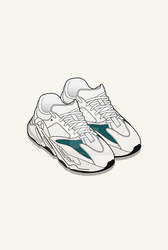 852ecccf8 YEEZY BOOST 700   WHITE TEAL   by Damiien-b