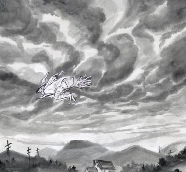 inktober day 19 Cloud Witch by Avoice