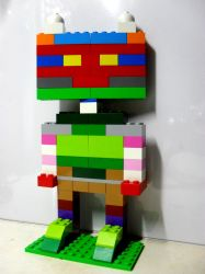 My 10th LEGO Build: Humanoid Figure #1 by takeshimiranda