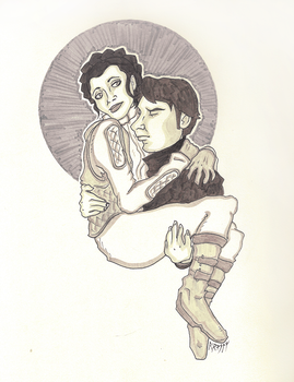 Han and Leia by ThatNorskChick