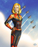 Captain Marvel by jonathanserrot