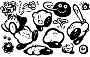 Some Kirby Doodles by JamesmanTheRegenold