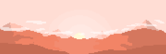 Red desert or Mountains in a sunset by JosplosionPlus