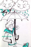 #139 Thunder and rain by LateAMdoodles