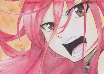 Watercolor Erza by CrystalMelody-FT
