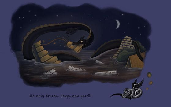 The Year of the Black Water Dragon (2012) by Double-rain