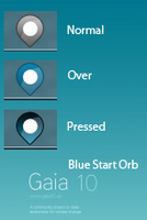 Gaia 10 Blue Start Orb by khios