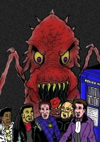 Doctor Who/Red Dwarf Comic Book - Artwork by mikedaws