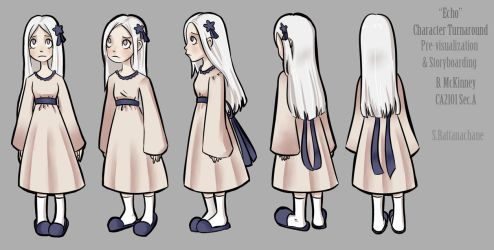 Echo Character Turnaround by MarionetteDolly