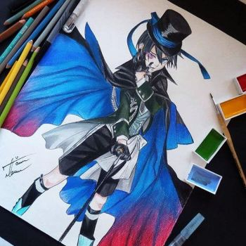 Drawing Ciel Phantomhive by marishru1