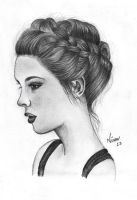 Girl with braids by Wilwarinn