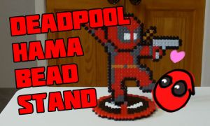 Deadpool Hama Bead Stand Tutorial (Link in Des) by Dogtorwho