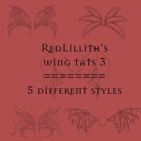RedLillith's Wing tats set 3 by rL-Brushes