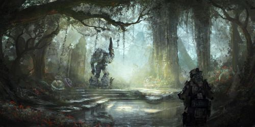 Swamp Temple Day by 2buiArt
