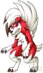 Pokemon - Lycanroc (Midnight) by Lurking-Leanne