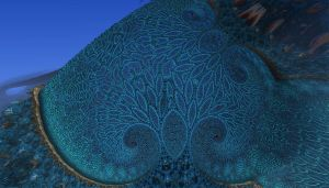 Blue trees in a shell by nic022