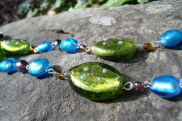Colorful Earth Necklace Detail by Valley-of-Egeria
