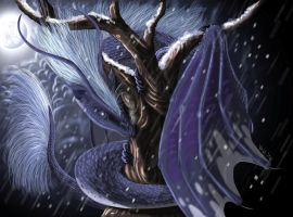 nightfall dragoness by AltairSky