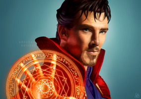 Doctor Strange (Benedict Cumberbatch) by Ode-Chan
