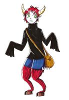 little monster with a bag by Lutih
