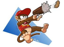 Day 212 - Diddy Kong by Xyrten