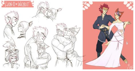 [COMMISSION SKETCH PAGE] Lion-O x Wilykit by Llythium-art