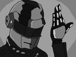 Daft Punk guy by holdypause