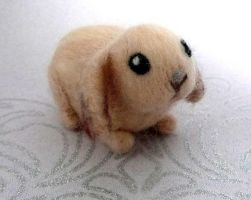 Babs the Needle Felted Baby Bunny by StarlitCutesies