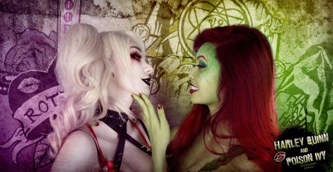 Harley Quinn x Poison Ivy by xwickedgames