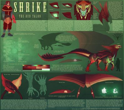 Shrike Reference Sheet v.1.0 by Skysealer