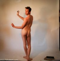 standing male nude, back by TheMaleNudeStock