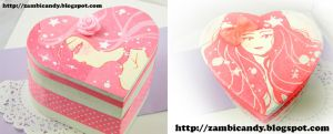 pink heart shaped boxes by zambicandy