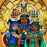 GO!GO! The Mexica Triple Alliance!! by nosuku-k