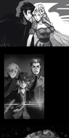 Some Voltron black and white sketches by OllyYuu
