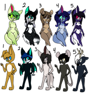 Anthro adopts (1/10 open) by kikitheartistcat