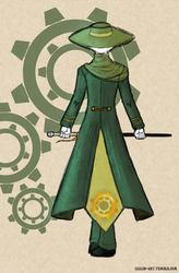 RWBY - Huntsman Ozpin back outfit by lealin